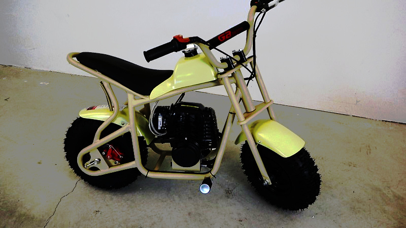 Smallest complete mini bike Fit Right DB003 - Me Going Fast