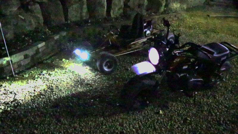 mini bike led lights coil charging system flywheel