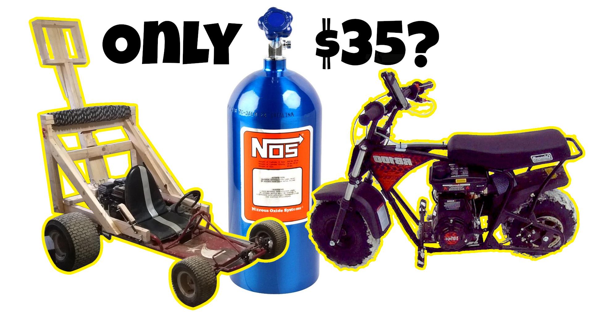 Mini Bike and Go Kart NITROUS OXIDE Kit (NOS)
