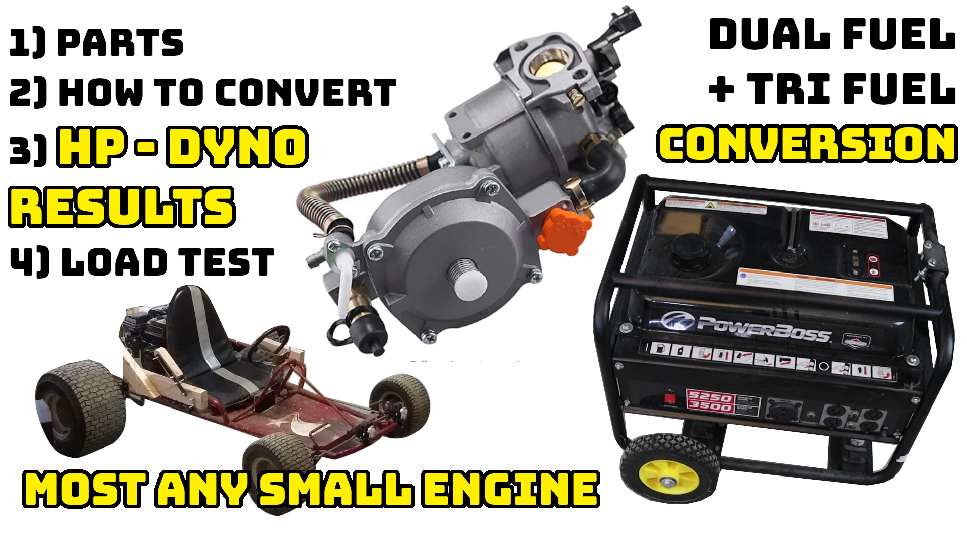 Dual fuel / Tri fuel carburetor conversion for small engines